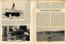 Fort Marchevolette Namur nach Beschiessung mit 42cm-Artillerie Bildbericht 1914