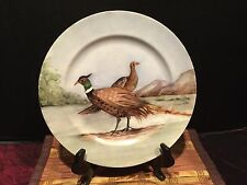 Haviland France Hand Painted Pheasant Bird Plate Signed 9 5/8""