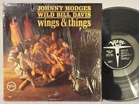 Johnny Hodges Wild Bill Davis Wings & Things VG+ VERVE MONO IN SHRINK GrantGreen