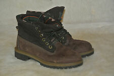 TIMBERLAND CLASSIC BROWN LEATHER ROLL TOP RUGGED WORK HIKING BOOT KID YOUTH 4