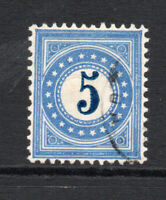 Switzerland 5 Cent Postage Due Used Stamp c1878-80 (1778)