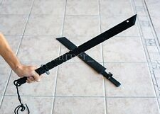 "Black Katana by Tomahawk 27"" Fantasy Sword + Sheath Ninja Deadly Dark Assassin"