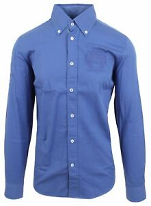 """VAN SANTEN & VAN SANTEN Hemd Shirt Langarm Größe L 42 16.5"""" SLIM FIT Blau Blue"""