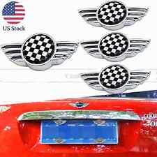 For Mini Cooper Checker Car License Plate Frame Bolts Screw Caps Cover 4x