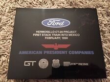 Ford Hermosillo CT-20 Project First Stack Train Into Mexico Plaque February 1990
