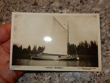 More details for oulton broad, suffolk nr33.  wherry  bramble  edwardian postcard