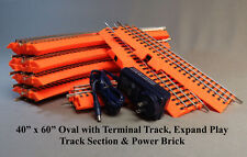 "LIONEL ORANGE FASTRACK 40x60"" OVAL LIONCHIEF TERMINAL PEP & POWER BR halloween"