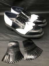 NEW Golf shoes 8.5 mens Hitchcock wide shoes for man Made in USA.