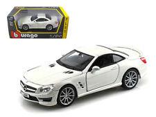 Bburago 1/24 Mercedes Benz SL 65 AMG Coupe Diecast Model Car White (18-21066)