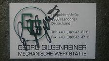 Visitenkarte m.Orig.AG Georg Gilgenreiner BRD 3.WM 81 - Team Speedway Rärität!