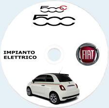 """FIAT 500 e 500c (FCA) Restyling manuale officina """"IMPIANTO ELETTRICO"""""""