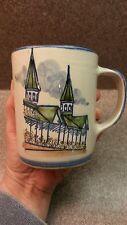 LOUISVILLE STONEWARE KENTUCKY DERBY CHURCHILL DOWNS HAND PAINTED COFFEE MUG