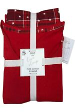 LADIES M&S RED CHECKED PURE COTTON SHORT SLEEVE PYJAMAS SIZES  8 - 26