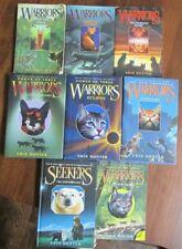 Lot of 8 Warriors series Erin Hunter New Prophecy Power Seekers Dawn HC / PB