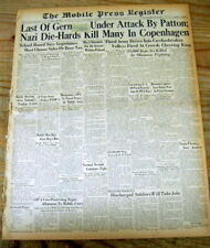 1945 WW II newspaper GENERAL GEORGE PATTON & his 3rd Army finishing offThe Nazis