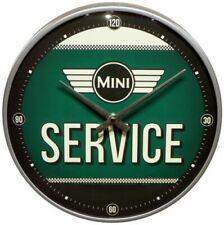 MINI  COOPER SERVICE - Wanduhr Original Uhr Retro Werkstatt Deko Service Schild