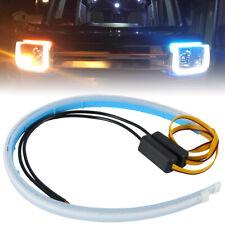 """2x 24 """"LED Strip Lights Kit clignotant à flux séquentiel pour phare DRL PS"""