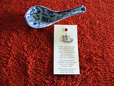 Desaru  Blue  & White Spoon  c1830  Recovered From Shipwreck In South China Sea