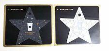Starbucks KOREA Exclusive 4th Anniversary Star Card Set