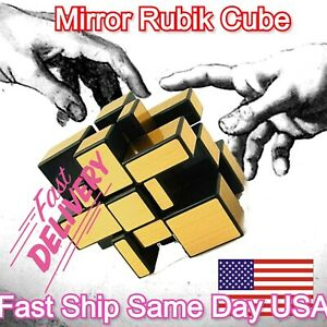 Educational Mirror Gold Speed cube 3x3x3 magic twist puzzle cube 3D New PRO ONLY