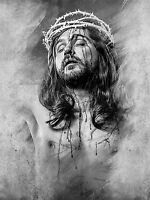 ART PRINT POSTER PAINTING DRAWING STUDY CHRIST CRUCIFIED CROWN THORNS LFMP0670