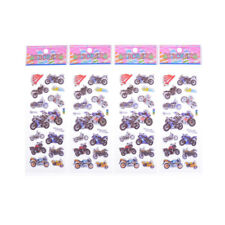4pcs Various Motorcycle 3D Cartoon Stickers Children Boys Christmas Gift Toy BH