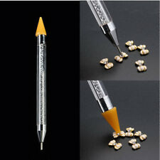 1Pc Dual-ended Dotting Pen Rhinestone Picker Wax Pencil Manicure Nail Art Tool