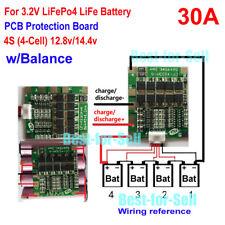 12V 12.8V 4S 30A 4x 3.2V LiFePo4 LiFe 18650 Battery BMS Protection Balance Board