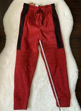 Copper Denim Boys Sweatpants NWT Size Small Red & Black Pockets Drawstring