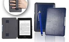 Azul Marino De Cuero Funda Para Amazon Kindle Paperwhite 5 6 Wifi cubierta C / el modo de suspensión