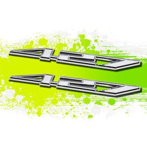 X2 Chrome CID 427 7.0 Metal Bumper Trunk Grill Fender Emblem Decal Sticker Badge
