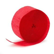 4 Rolls Red Crepe Paper Streamers 290 ft Total-Made in Usa