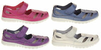 Ladies Coolers Wide Fit Leather Sandals Womens Summer Fruits Shoe Size 4 5 6 7 8