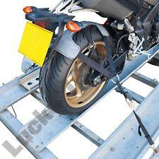 BikeTek Tie down motorcycle ratchet tyre fix motorbike trailer transport strap