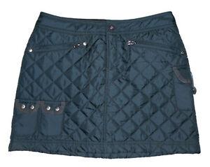 ATHLETA Diamond Quilted Mini Skirt SNOW STOMPER Puffer NAVY BLUE Cute NEW Sz 0