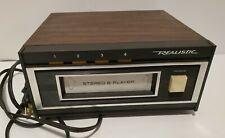 Realistic Vintage 8 Track Player TR 169 Radio Shack Works Walnut veneer