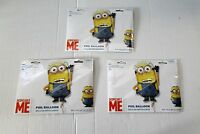 Pack of 3 Super Shape Minion Foil Helium Balloons - Despicable Me Minions Party