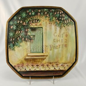 Tam San Designs Plate Cafe Chez Pierre Home Decor Country French Art Octagonal