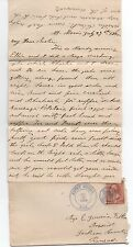 1885 Us Cover & Letter with Fancy Shield Cancel from Mount Morris illinois