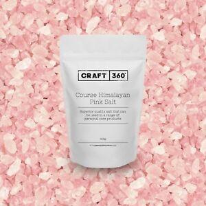 COARSE - HIMALAYAN PURE PINK ROCK SALT EDIBLE Crystal Soap Bath Scrub FOOD GRADE