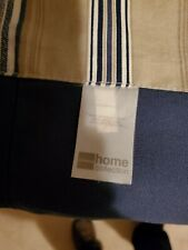 UsedScalloped Wave Valance JCPenney Home Collection Wendy Navy Blue Tan Stripe