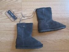 Toddler girls boots grey real suede mantaray boots Debenhams infant size 4 BNWT