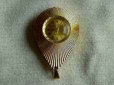 Vintage Ladies ALPHA Super de Luxe Gold Plated Mechanical Necklace Watch
