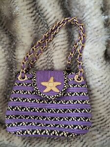 Eric Javits luxury starfish handbag Violet Black Purse
