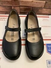 Birkenstock Women's Iona Black Leather Mary Janes Shoes Sz 38,  24,5cm