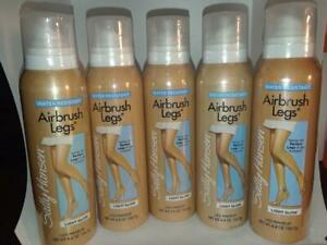 5 pack Sally Hansen Airbrush Legs Leg Makeup LIGHT Glow Water Resistant 4.4 oz