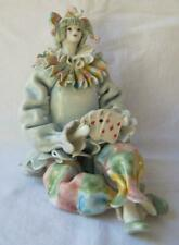 Exquisite Rare Porcelain Large Clown Made in Italy Gumps San Francisco 19