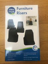 4 Furniture leg raisers NEW by Active Living