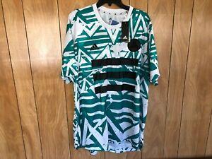 NEW ADIDAS Jersey SOCCER MENS T-Shirt  FM1082 White/Glory Green SIZE: 2XL $50.00