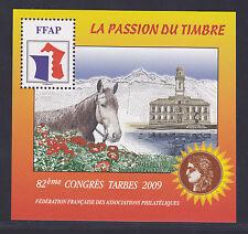 BLOC FFAP N°  3 **  82è Congrès TARBES 2009, NEUF, TB